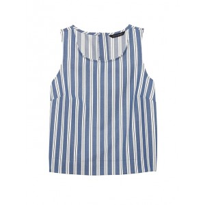 Stripe Button-Back Tank