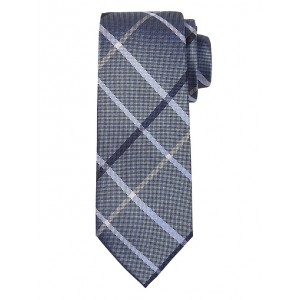 Windowpane Plaid Nanotex® Tie