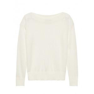 Linen Boat-Neck Sweater