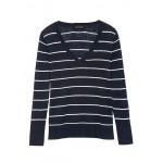 Linen-Blend V-Neck Sweater