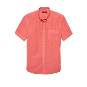 Slim-Fit Cotton Twill Shirt
