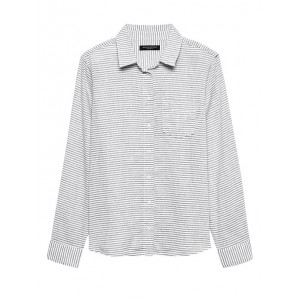 Quinn Straight-Fit Linen-Cotton Shirt