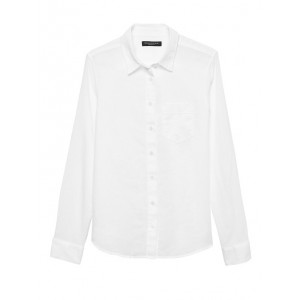 Petite Quinn Straight-Fit Linen-Cotton Shirt