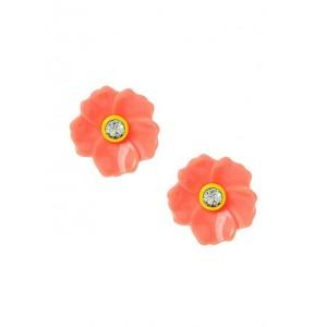 Enamel Flower Stud Earrings