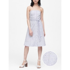 Eyelet Button-Down Dress