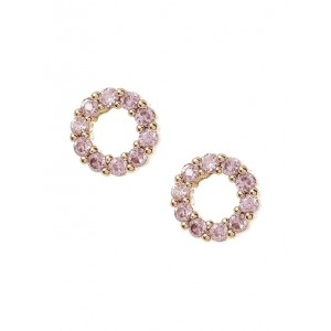 Pave Open Circle Stud Earrings