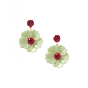 Enamel Flower Drop Earrings