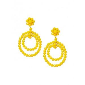 Summer Beads Double Hoop Earrings