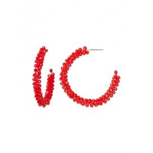 Summer Beads Hoop Earrings