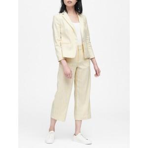 Petite Tailored-Fit Linen Cotton Blazer