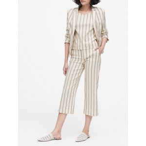 Tailored-Fit Linen-Blend Blazer