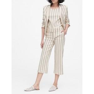 Petite Tailored-Fit Linen-Blend Blazer