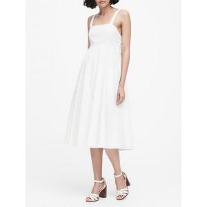 Poplin Tie-Back Dress