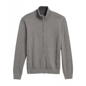 Cotton Cashmere Sweater Jacket