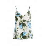 Petite Tropical Print Strappy Camisole