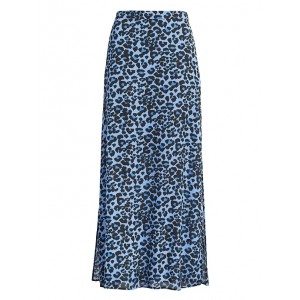 Leopard Maxi Skirt with Side Slits