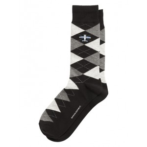 Airplane Argyle Sock
