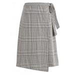 Plaid Midi Wrap Skirt