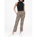 Petite Avery Straight-Fit Leopard Ankle Pant