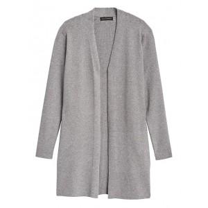 Ribbed Long Cardigan Sweater