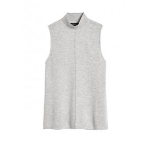 Petite Mock-Neck Sweater Top