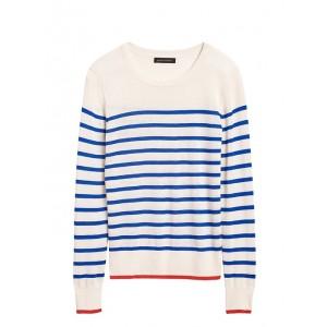 Petite Silk Cashmere Crew-Neck Sweater