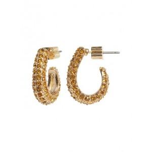 Pave J-Hoop Earrings