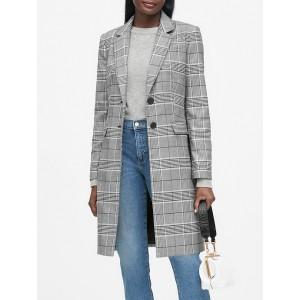 Plaid Top Coat