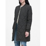 Water-Resistant Quilted Long Coat