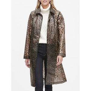 Leopard Print Rain Coat