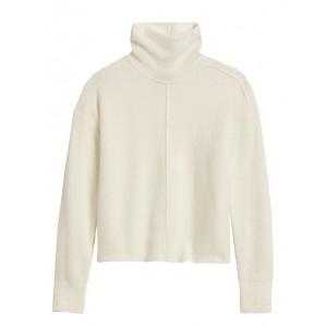 Merino-Blend Funnel-Neck Sweater