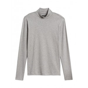 Luxury-Touch Mock-Neck T-Shirt