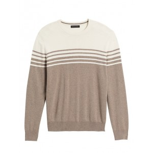 Silk Cotton Cashmere Crew-Neck Sweater