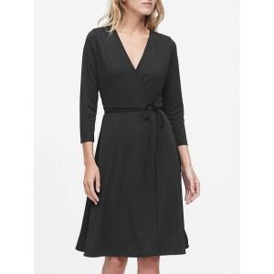 Petite Jersey Wrap Dress