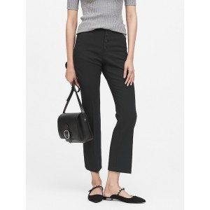 Petite High-Rise Crop Flare Button Fly Pant