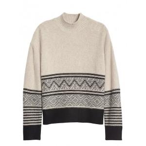 Petite Fair Isle Mock-Neck Sweater