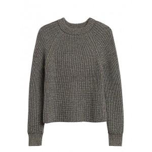 Petite Chunky Metallic Cropped Sweater
