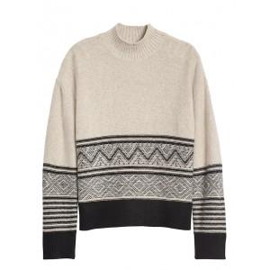 Fair Isle Mock-Neck Sweater