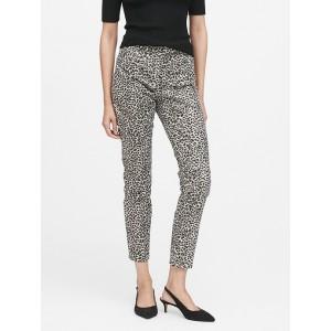 Petite Modern Sloan Skinny-Fit Metallic Leopard Pant