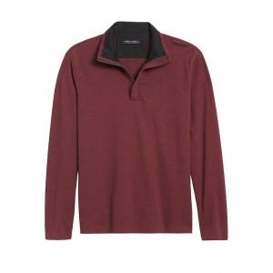 Luxury-Touch Half-Zip T-Shirt