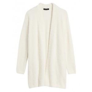 Fuzzy Long Cardigan Sweater