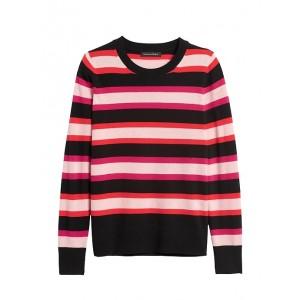 Italian Merino-Blend Stripe Sweater