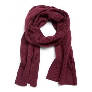 Merino Wool Waffle-Knit Scarf