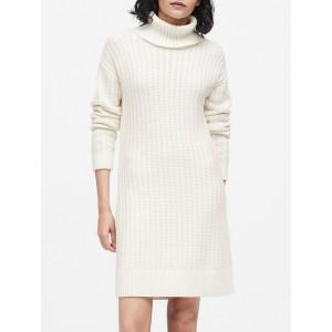 Petite Chunky Turtleneck Sweater Dress