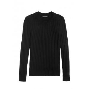 Petite Washable Merino Ribbed Sweater