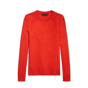 Washable Merino Ribbed Sweater