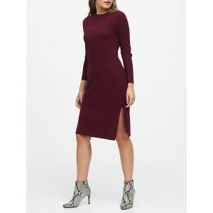 Petite Ribbed Sweater Dress
