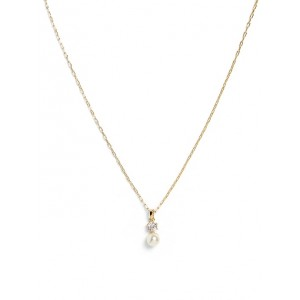 Delicate Pearl Pendant Necklace