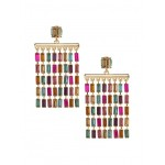 Baguette Chandelier Earrings