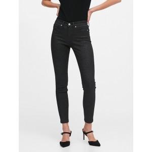 Petite Mid-Rise Skinny Metallic Jean